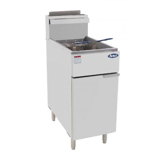 DOUBLE WIDE RIM ELECTRIC FRYER WITH DRAIN