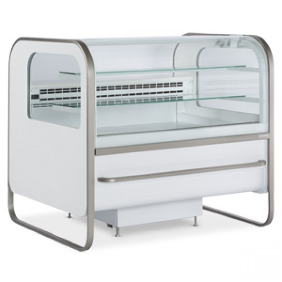 FAN ASSISTED SPHERICAL GLASS PASTRY SERVEOVER FRIDGE 2.6M