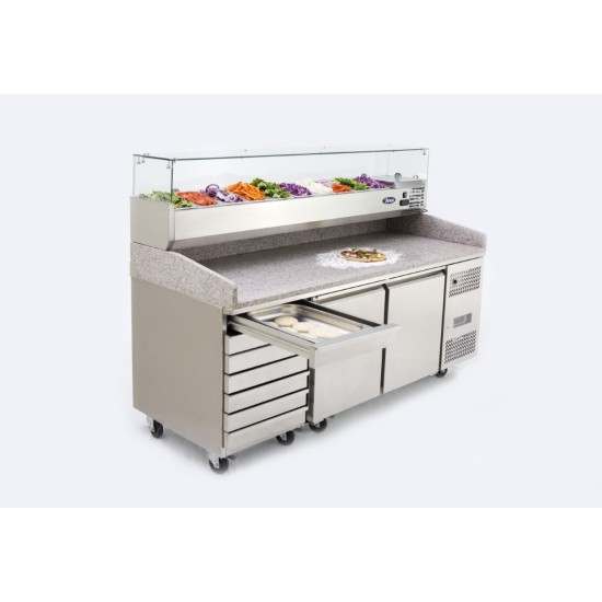 PIZZA COUNTER 2 DOOR 7 DRAWS + VRX UNIT AND PANS