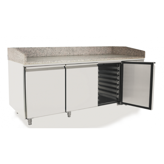 PIZZA COUNTER 3 DOORS WITH 2000MM VRX UNIT & GN PANS 100MM