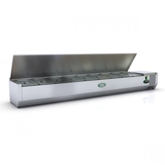 1/3 GN TOPPING FRIDGE WITH S/STEEL LID 1.8M