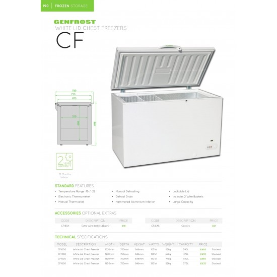 STAINLESS STEEL LID CHEST FREEZER 1.53M