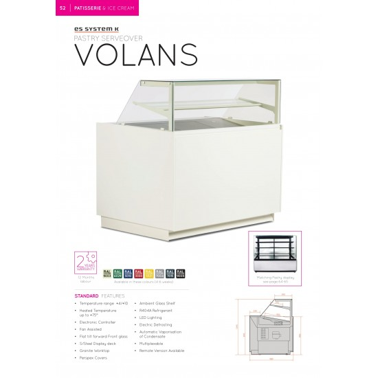 PASTRY SERVEOVER HEATED DISPLAY 0.904M