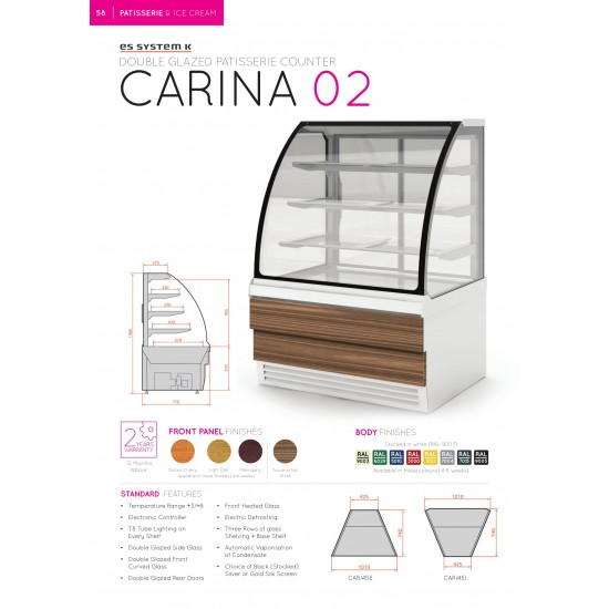 DOUBLE GLAZED PATISSERIE COUNTER CARINA 1.438M