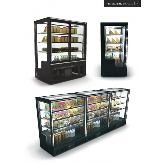 FREESTANDING DISPLAY FRIDGE WITH REAR DOORS ( SQUARE & CLOSED FRONT )