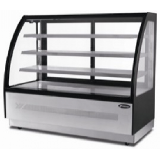 CURVED GLASS THREE SHELVED DELI COUNTER 1.5M